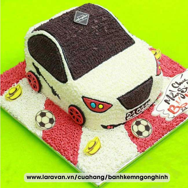 Bánh kem sinh nhật tạo hình xe hơi, xe đua