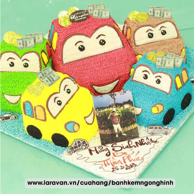 Bánh kem sinh nhật tạo hình xe mcqueen