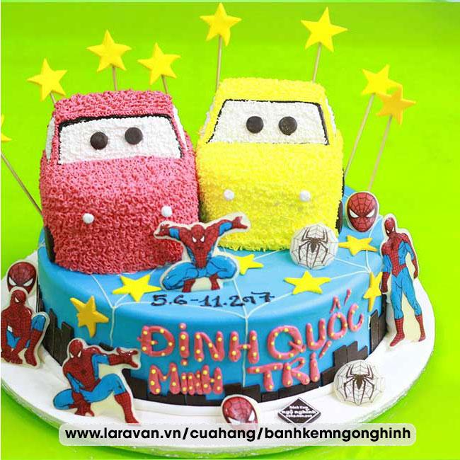 Bánh kem sinh nhật tạo hình xe đua, xe hơi
