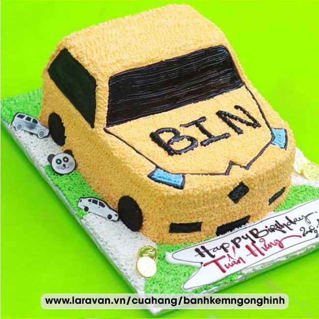 Bánh kem sinh nhật tạo hình siêu xe, xe mcqueen