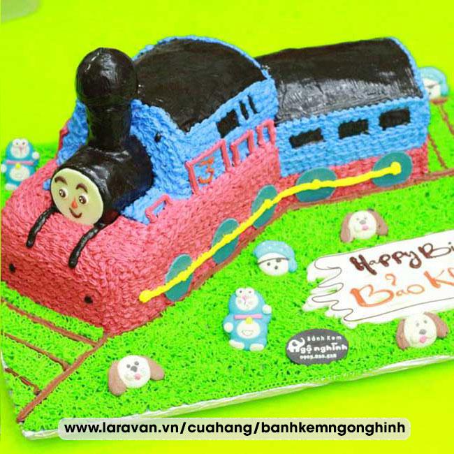 Bánh kem sinh nhật tạo hình xe lửa