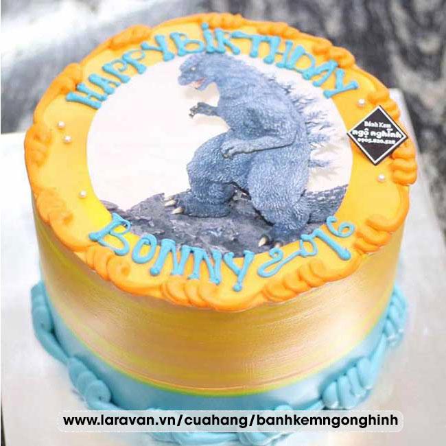 Bánh kem sinh nhật in hình khủng long