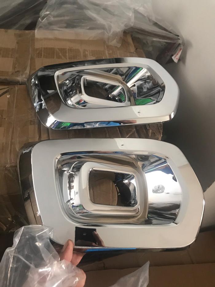 Bộ ốp Viền Đèn Gầm Trước Mạ Crom Dành cho xe Ranger 2019